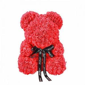 Мишка из 3D роз 20 см