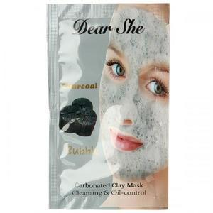 Пузырьковая маска для лица Dear She Charcoal 10 шт