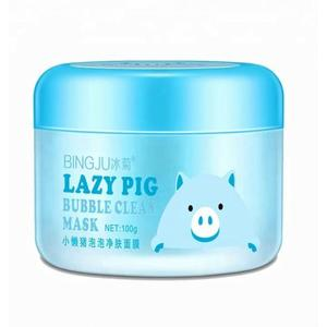 Маска для лица BINGJU Lazy Pig Bubble Clean Mask 100 г