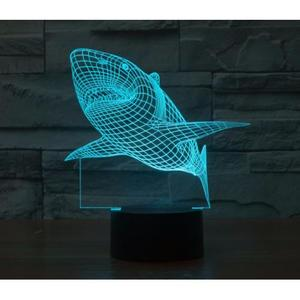 Объемный 3D светильник Акула