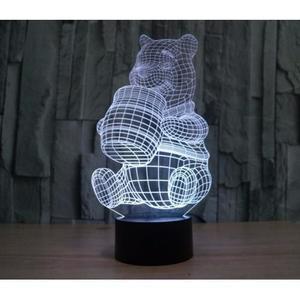 Объемный 3D светильник Медведь Винни-Пух