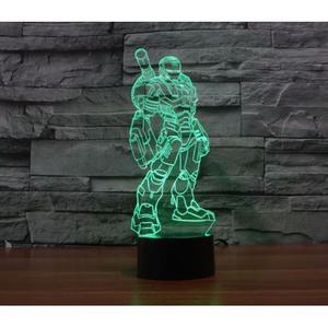 Объемный 3D светильник Железный человек 1 (Iron man)