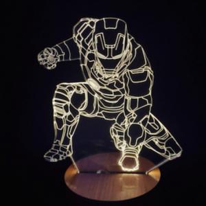 Объемный 3D светильник Железный человек 2 (Iron man)