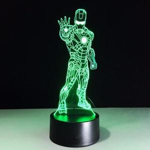 Объемный 3D светильник Железный человек 3 (Iron man)