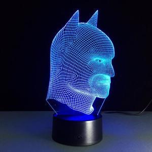 Светодиодный 3D светильник Бэтмен (Batman)