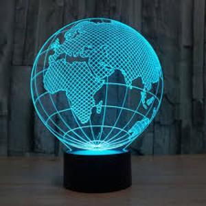 Светодиодный 3D светильник глобус