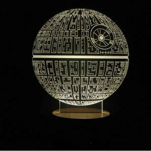 Светодиодный 3D светильник Звезда смерти Star Wars