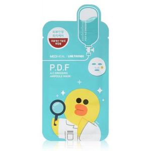 Успокаивающая маска P.D.F A.C Dressing Ampoule Face Mask Sheet 25 мл